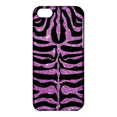 Skin2 Black Marble & Purple Glitter (r) Apple Iphone 5c Hardshell Case by trendistuff