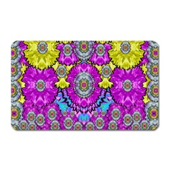 Fantasy Bloom In Spring Time Lively Colors Magnet (rectangular) by pepitasart