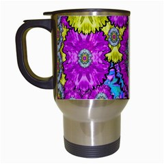 Fantasy Bloom In Spring Time Lively Colors Travel Mugs (white) by pepitasart