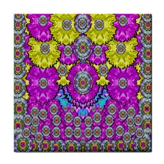 Fantasy Bloom In Spring Time Lively Colors Face Towel by pepitasart