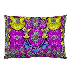 Fantasy Bloom In Spring Time Lively Colors Pillow Case (two Sides) by pepitasart