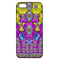 Fantasy Bloom In Spring Time Lively Colors Apple Iphone 5 Seamless Case (black) by pepitasart
