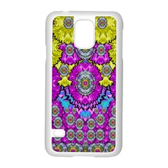 Fantasy Bloom In Spring Time Lively Colors Samsung Galaxy S5 Case (white) by pepitasart