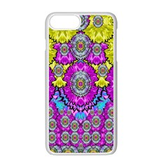 Fantasy Bloom In Spring Time Lively Colors Apple Iphone 7 Plus Seamless Case (white) by pepitasart
