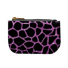 Skin1 Black Marble & Purple Glitter Mini Coin Purses by trendistuff