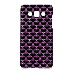 Scales3 Black Marble & Purple Glitter (r) Samsung Galaxy A5 Hardshell Case  by trendistuff