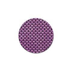 Scales3 Black Marble & Purple Glitter Golf Ball Marker (10 Pack) by trendistuff