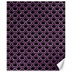 Scales2 Black Marble & Purple Glitter (r) Canvas 8  X 10  by trendistuff
