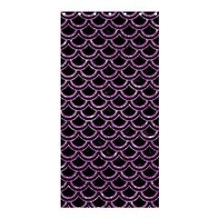 Scales2 Black Marble & Purple Glitter (r) Shower Curtain 36  X 72  (stall)  by trendistuff
