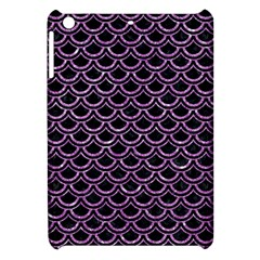 Scales2 Black Marble & Purple Glitter (r) Apple Ipad Mini Hardshell Case by trendistuff