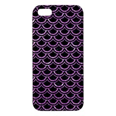 Scales2 Black Marble & Purple Glitter (r) Apple Iphone 5 Premium Hardshell Case by trendistuff