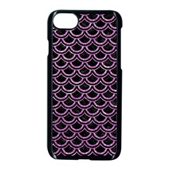 Scales2 Black Marble & Purple Glitter (r) Apple Iphone 7 Seamless Case (black) by trendistuff