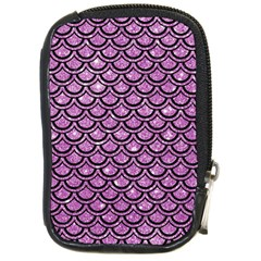 Scales2 Black Marble & Purple Glitter Compact Camera Cases by trendistuff