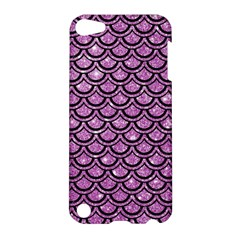 Scales2 Black Marble & Purple Glitter Apple Ipod Touch 5 Hardshell Case by trendistuff