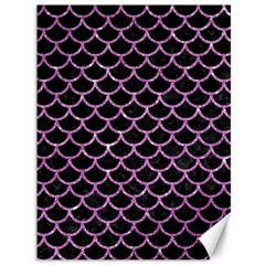 Scales1 Black Marble & Purple Glitter (r) Canvas 36  X 48   by trendistuff