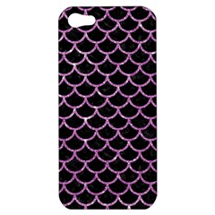 Scales1 Black Marble & Purple Glitter (r) Apple Iphone 5 Hardshell Case by trendistuff