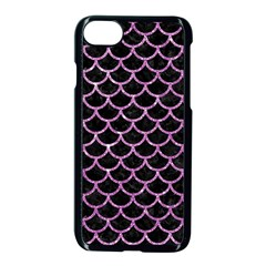 Scales1 Black Marble & Purple Glitter (r) Apple Iphone 7 Seamless Case (black) by trendistuff