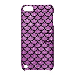 Scales1 Black Marble & Purple Glitter Apple Ipod Touch 5 Hardshell Case With Stand by trendistuff