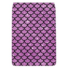 Scales1 Black Marble & Purple Glitter Flap Covers (l)  by trendistuff