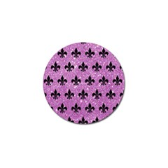 Royal1 Black Marble & Purple Glitter (r) Golf Ball Marker by trendistuff