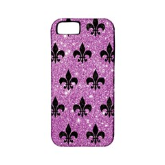 Royal1 Black Marble & Purple Glitter (r) Apple Iphone 5 Classic Hardshell Case (pc+silicone) by trendistuff