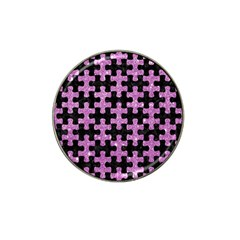 Puzzle1 Black Marble & Purple Glitter Hat Clip Ball Marker by trendistuff