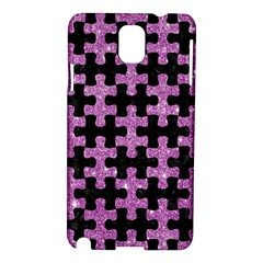 Puzzle1 Black Marble & Purple Glitter Samsung Galaxy Note 3 N9005 Hardshell Case by trendistuff