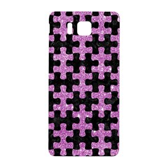 Puzzle1 Black Marble & Purple Glitter Samsung Galaxy Alpha Hardshell Back Case by trendistuff