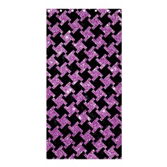 Houndstooth2 Black Marble & Purple Glitter Shower Curtain 36  X 72  (stall)  by trendistuff