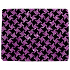 Houndstooth2 Black Marble & Purple Glitter Jigsaw Puzzle Photo Stand (rectangular) by trendistuff