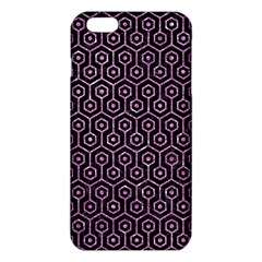 Hexagon1 Black Marble & Purple Glitter (r) Iphone 6 Plus/6s Plus Tpu Case