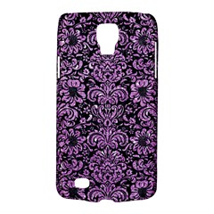 Damask2 Black Marble & Purple Glitter (r) Galaxy S4 Active