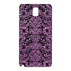 Damask2 Black Marble & Purple Glitter (r) Samsung Galaxy Note 3 N9005 Hardshell Back Case by trendistuff