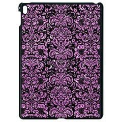 Damask2 Black Marble & Purple Glitter (r) Apple Ipad Pro 9 7   Black Seamless Case
