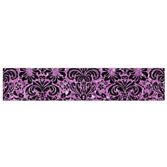 Damask2 Black Marble & Purple Glitter Small Flano Scarf by trendistuff