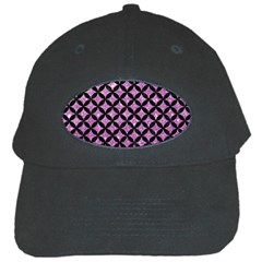 Circles3 Black Marble & Purple Glitter Black Cap by trendistuff