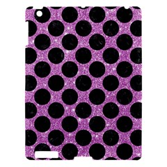 Circles2 Black Marble & Purple Glitter Apple Ipad 3/4 Hardshell Case by trendistuff
