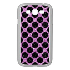 Circles2 Black Marble & Purple Glitter Samsung Galaxy Grand Duos I9082 Case (white) by trendistuff