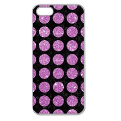 Circles1 Black Marble & Purple Glitter (r) Apple Seamless Iphone 5 Case (clear) by trendistuff