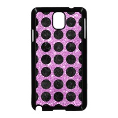 Circles1 Black Marble & Purple Glitter Samsung Galaxy Note 3 Neo Hardshell Case (black) by trendistuff