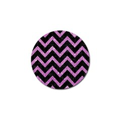 Chevron9 Black Marble & Purple Glitter (r)chevron9 Black Marble & Purple Glitter (r) Golf Ball Marker (10 Pack) by trendistuff