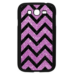 Chevron9 Black Marble & Purple Glitter Samsung Galaxy Grand Duos I9082 Case (black) by trendistuff