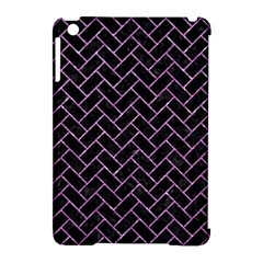 Brick2 Black Marble & Purple Glitter (r) Apple Ipad Mini Hardshell Case (compatible With Smart Cover) by trendistuff