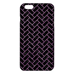 Brick2 Black Marble & Purple Glitter (r) Iphone 6 Plus/6s Plus Tpu Case