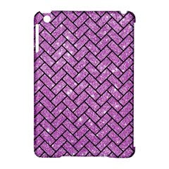 Brick2 Black Marble & Purple Glitter Apple Ipad Mini Hardshell Case (compatible With Smart Cover) by trendistuff
