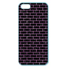 Brick1 Black Marble & Purple Glitter (r) Apple Seamless Iphone 5 Case (color) by trendistuff