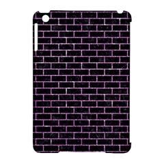 Brick1 Black Marble & Purple Glitter (r) Apple Ipad Mini Hardshell Case (compatible With Smart Cover) by trendistuff