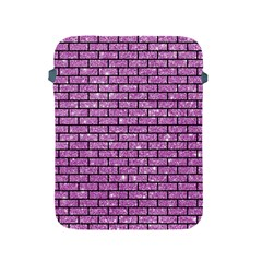 Brick1 Black Marble & Purple Glitter Apple Ipad 2/3/4 Protective Soft Cases by trendistuff
