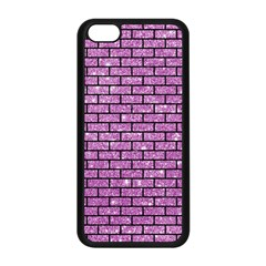 Brick1 Black Marble & Purple Glitter Apple Iphone 5c Seamless Case (black) by trendistuff