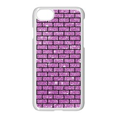 Brick1 Black Marble & Purple Glitter Apple Iphone 7 Seamless Case (white) by trendistuff